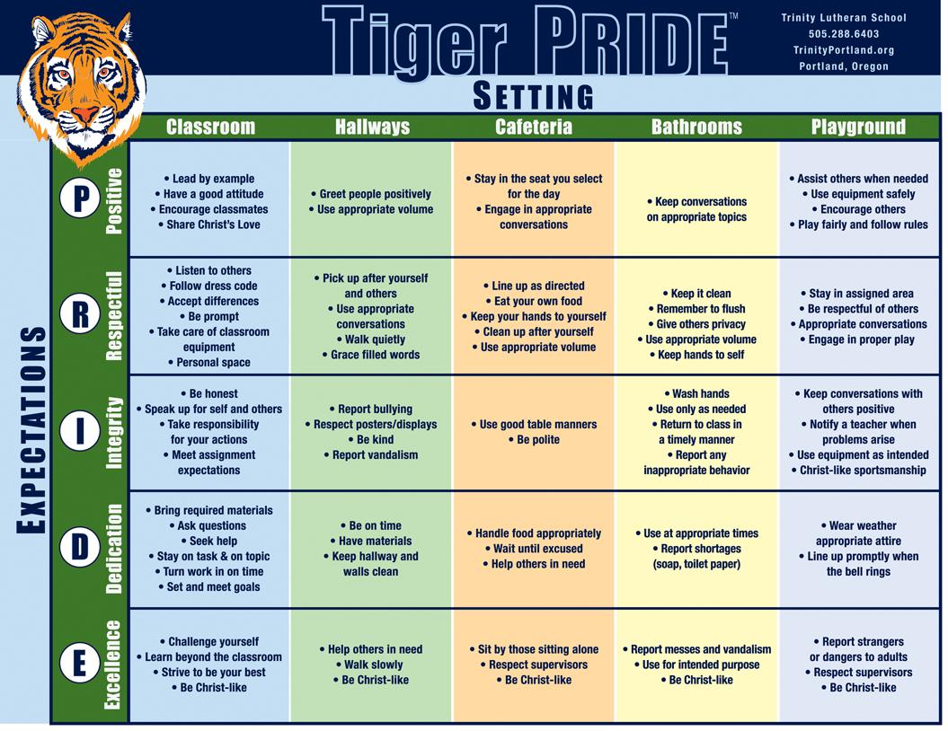 Tiger Pride 8.5 x 11 chartvec